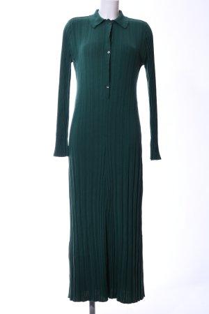 Malaika Raiss Strickkleid grün Streifenmuster Casual-Look