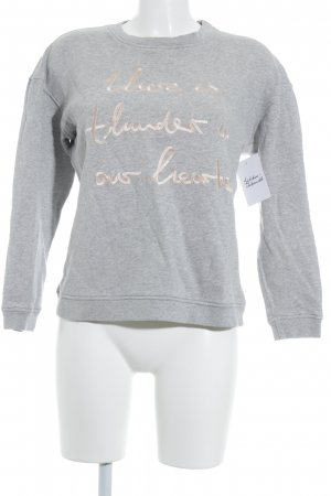 Malaika Raiss Sweatshirt hellgrau-rosé meliert sportlicher Stil