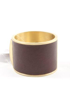 Malene Birger Sztywna bransoletka brązowy-złoto W stylu casual