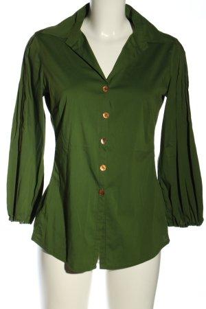 Maliparmi Langarm-Bluse grün Business-Look
