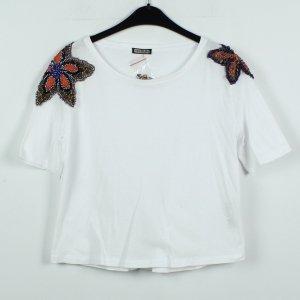 Maliparmi T-Shirt Gr. XS weiß bestickt NEU (19/11/156*)