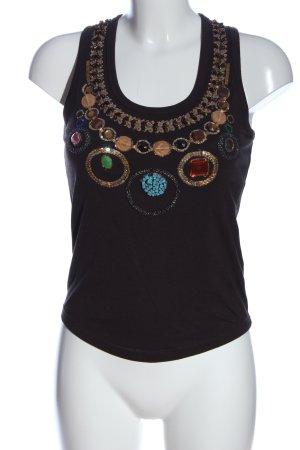 Maliparmi Camiseta sin mangas letras bordadas look casual