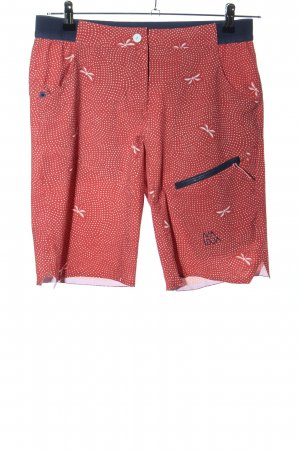 Maloja 3/4 Length Trousers red-white allover print casual look