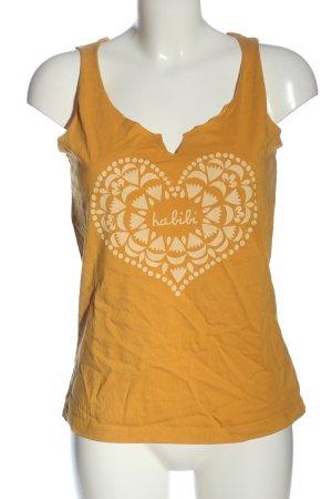 Maloja Basic Top light orange-natural white themed print casual look
