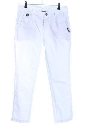 Maloja Pantalon chinos blanc style décontracté