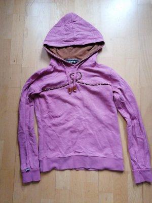 Maloja Maglione con cappuccio rosa