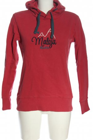 Maloja Bluza z kapturem Wydrukowane logo W stylu casual