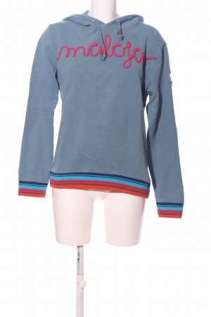 Maloja Hooded Sweatshirt blue flecked casual look
