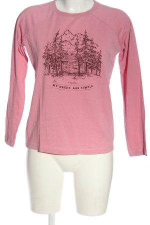 Maloja Longsleeve pink-black themed print casual look
