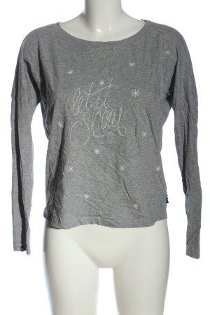 Maloja Longsleeve light grey flecked casual look