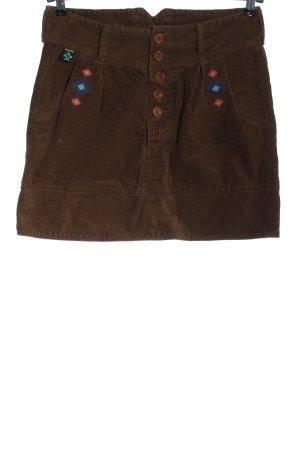 Maloja Miniskirt brown graphic pattern casual look
