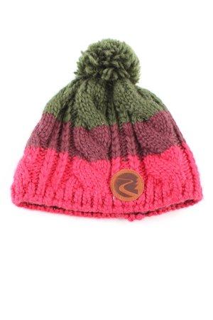 Maloja Cappello con pon pon Stampa a tema stile casual