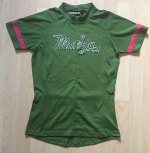 Maloja T-shirt de sport vert-rose polyester