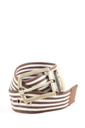 Maloja Fabric Belt brown-white striped pattern casual look