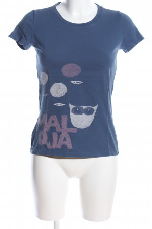 Maloja T-Shirt blau Motivdruck Casual-Look