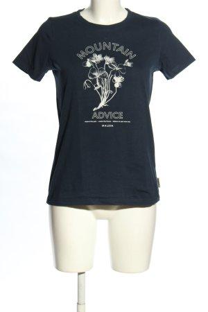 Maloja T-Shirt blau-weiß Motivdruck Casual-Look