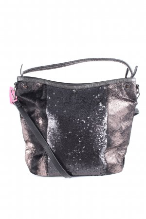 maloo Handtasche schwarz-bronzefarben Casual-Look