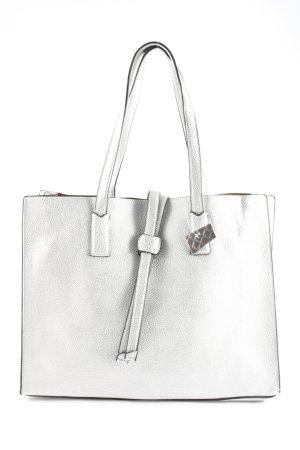 maloo Handtasche silberfarben Business-Look