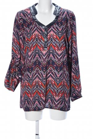 maloo Langarm-Bluse grafisches Muster Casual-Look