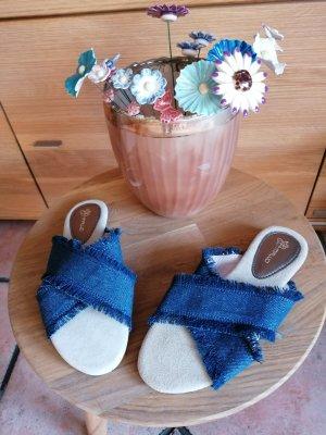 Malou Sander Pantoffels korenblauw