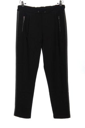 MALU Pantalon «Baggy» noir style décontracté