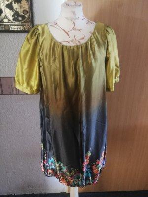 Malvin Balloon Dress gold-colored-dark grey
