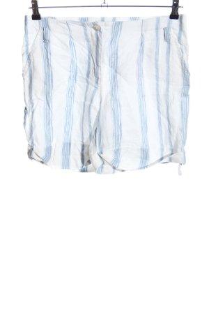 Malvin Shorts blau-weiß Streifenmuster Casual-Look