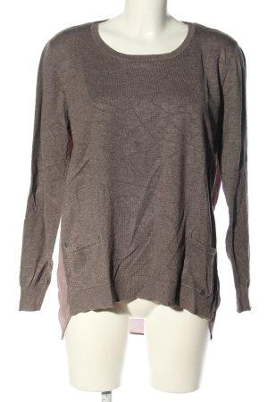 Malvin Empiècement de blouses brun-rose style décontracté