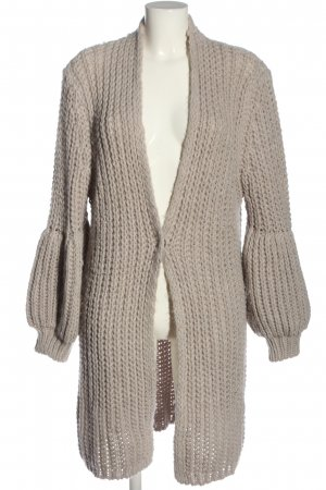 Malvin Cardigan wollweiß Zopfmuster Casual-Look