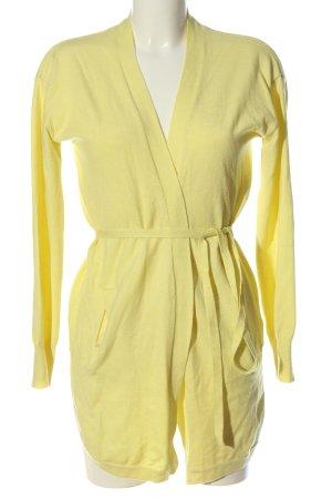 Malvin Cardigan giallo pallido stile casual