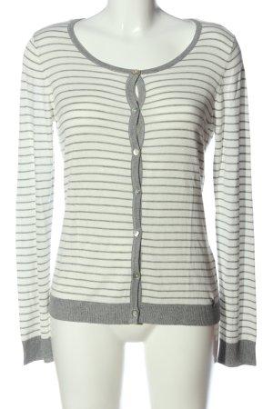 Malvin Cardigan grigio chiaro-bianco motivo a righe stile casual