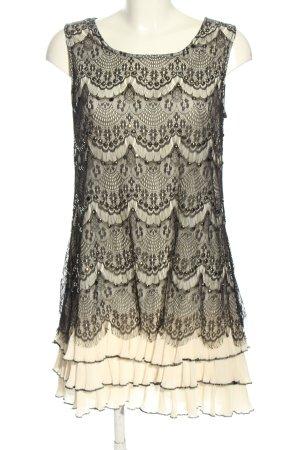 Malvin Cocktailkleid weiß-schwarz Casual-Look