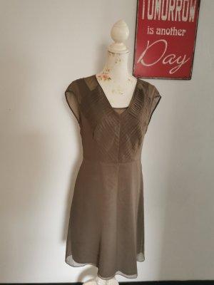 Malvin Damen Designer Seidenkleid Sommerkleid Cocktailkleid taupe Größe 38
