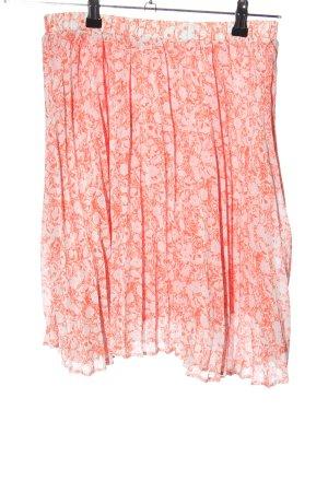 Malvin Faltenrock pink-wollweiß abstraktes Muster Casual-Look