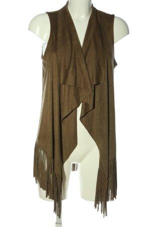 Malvin Veste à franges bronze élégant
