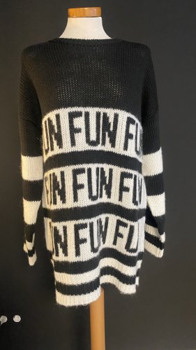 Malvin Pullover a maglia grossa nero-bianco Mohair