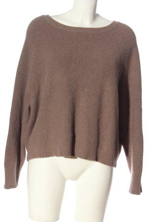 Malvin Sweter z grubej dzianiny brązowy Warkoczowy wzór W stylu casual