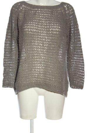Malvin Pullover all'uncinetto grigio chiaro stile casual