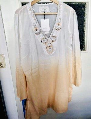 Malvin Odzież plażowa biały-brzoskwiniowy Bawełna
