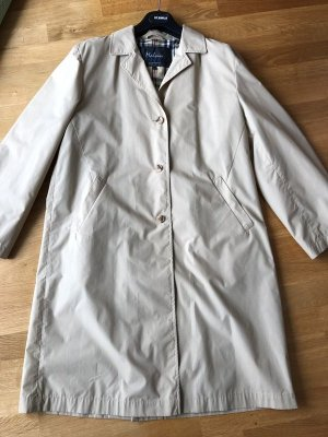 Melvin Trench Coat natural white mixture fibre