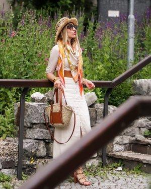 Malvin Kleid beige/sand Gr 34 Leinen/Baumwolle