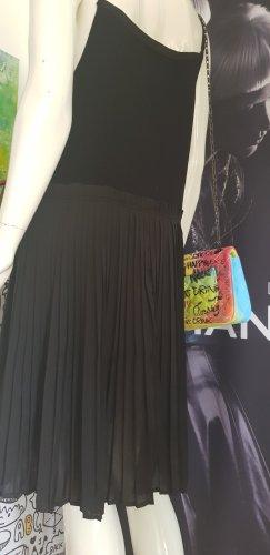 malvin Kleid plissee viskose Träger verstellbar XL schwarz wie neu