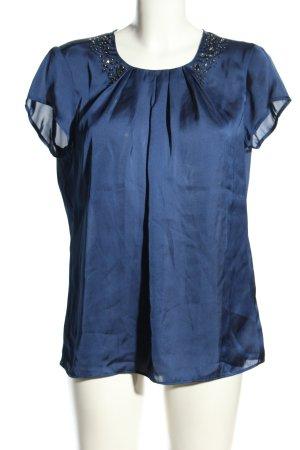 Malvin Kurzarm-Bluse blau Business-Look