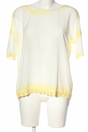 Malvin Kurzarm-Bluse wollweiß-blassgelb Farbverlauf Casual-Look