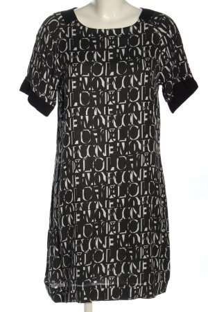 Malvin Kurzarmkleid schwarz-weiß Schriftzug gedruckt Casual-Look