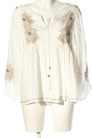 Malvin Langarm-Bluse weiß-braun Casual-Look