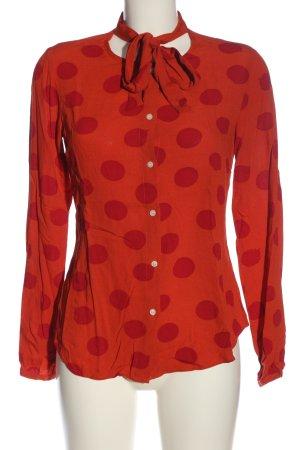Malvin Long Sleeve Blouse red-light orange spot pattern casual look