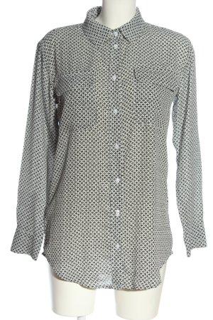Malvin Camicia a maniche lunghe bianco sporco-nero stampa integrale stile casual