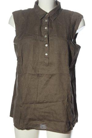 Malvin Linnen blouse bruin casual uitstraling