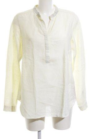 Malvin Long-Bluse hellgelb-blassgelb Paillettenverzierung